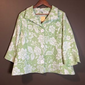 NEW! Coldwater creek green embroidered blazers